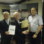 Dougie James accepting The Marshalls Register Award for 'Best Project by a New Registered Member'