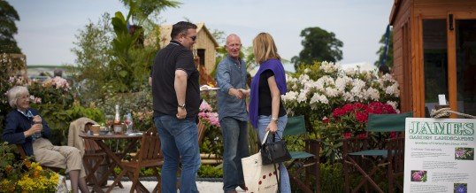 James Garden Landscaping popular at Gardening Scotland Show May 2014